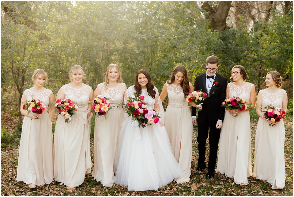 Bridal party with bridesman at The Hutton House