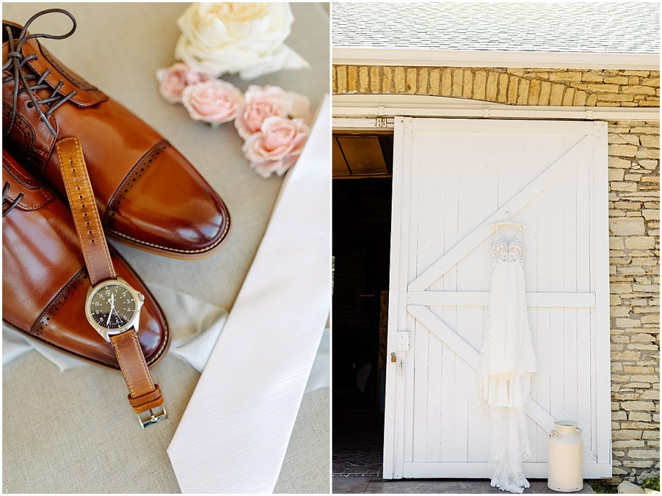 Wedding clothing detail shots at Mayowood Stone Barn