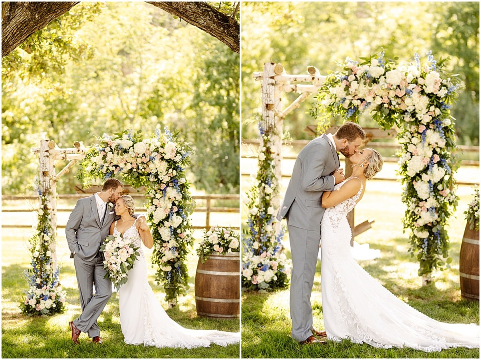 Ceremony Arch at Mayowood Stone Barn, Rochester MN