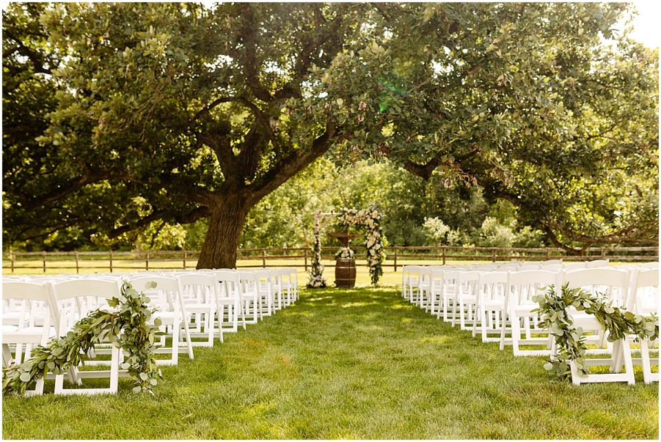 Outdoor Ceremony at Mayowood Stone Barn, Rochester MN