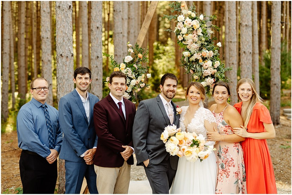 Group photos outside Pinewood Weddings & Events
