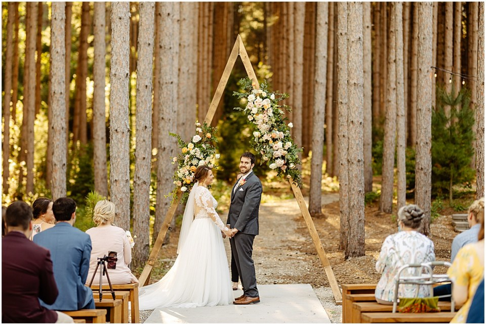 Pinewood Weddings & Events in the pines ceremony