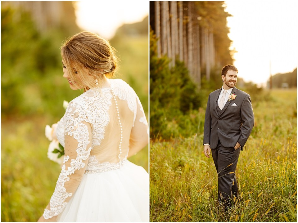 golden hour portraits at Pinewood Weddings & Events