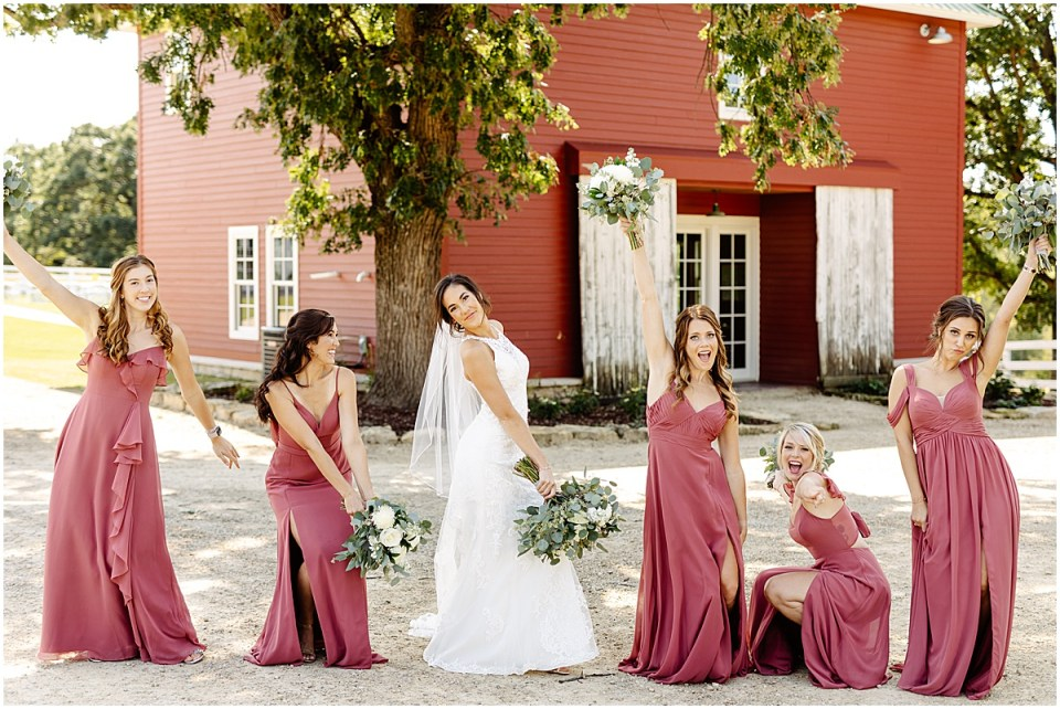 outdoor bridesmaids photos at Almquist Farm MN