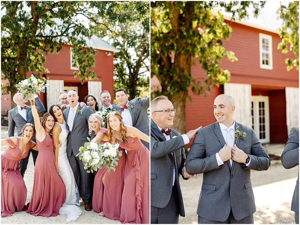 bridal party photos at Almquist Farm MN