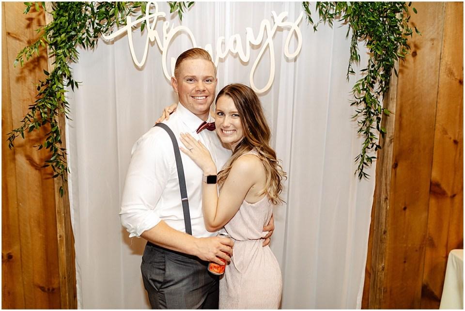 wedding photo backdrop Almquist Farm MN