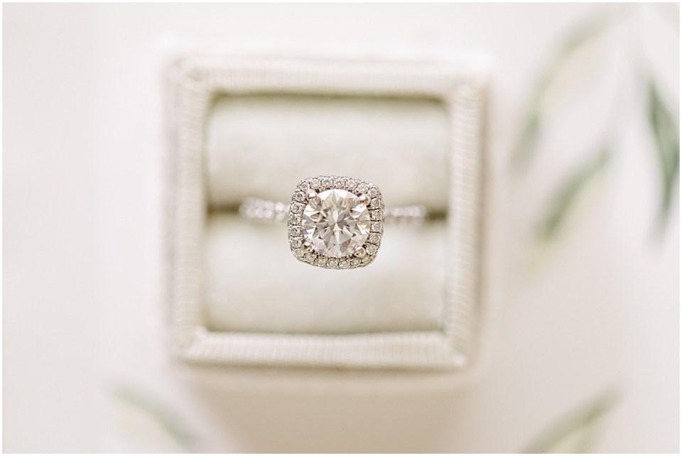 close up wedding ring shot