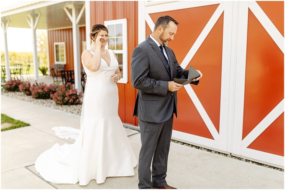 Father Daughter first look at Red Barn Farm