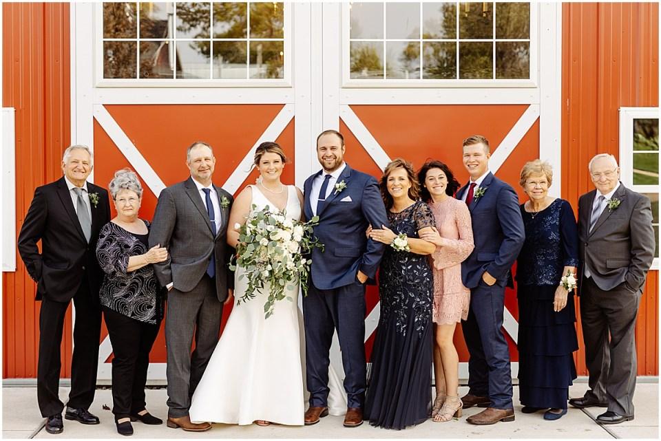 family portrait at red barn farm