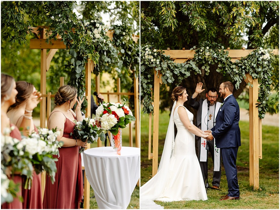 outdoor ceremony at the red barn farm