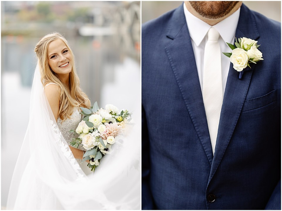 Bride and groom wedding detail shot