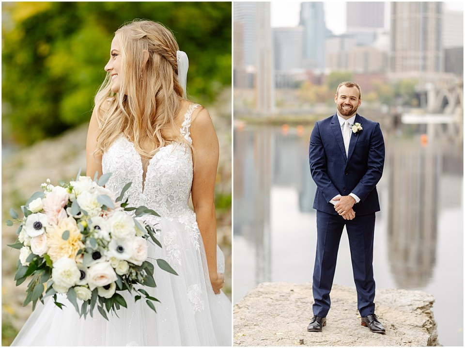 Wedding portraits in Minneapolis at The Grand 1858