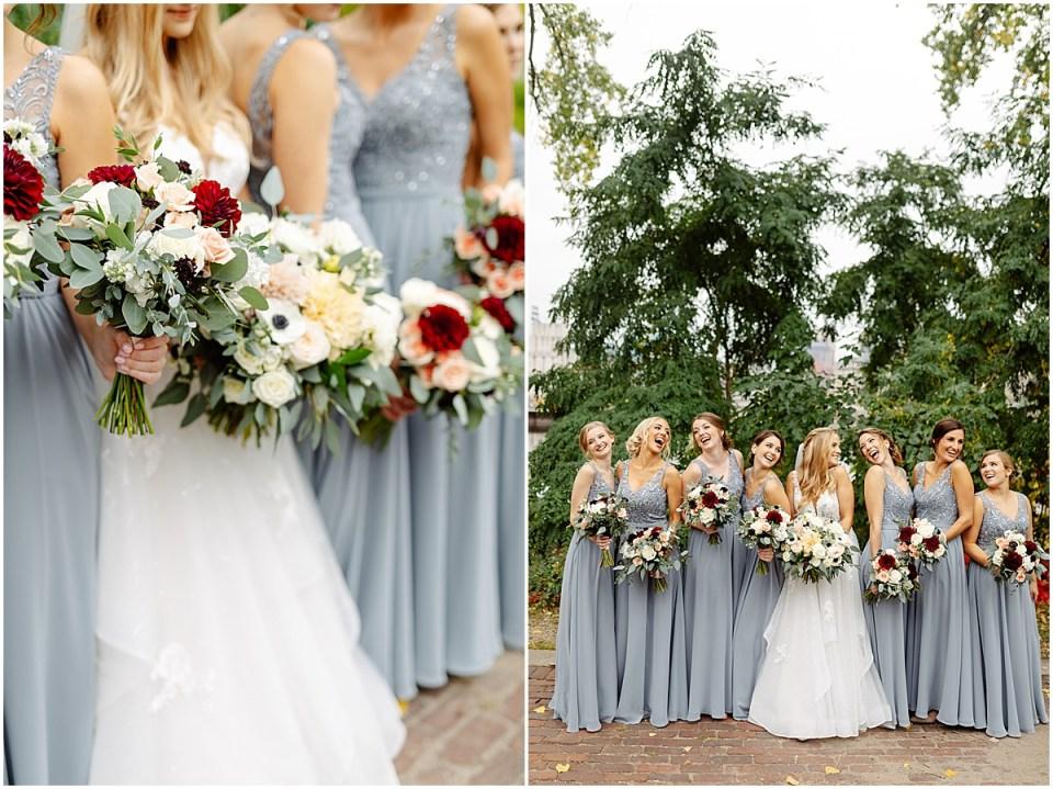 Studio Emme florals for bride and bridesmaid