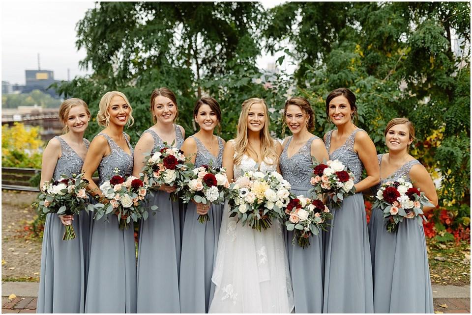 Bridesmaids and bride at The Grand 1858 Minneapolis
