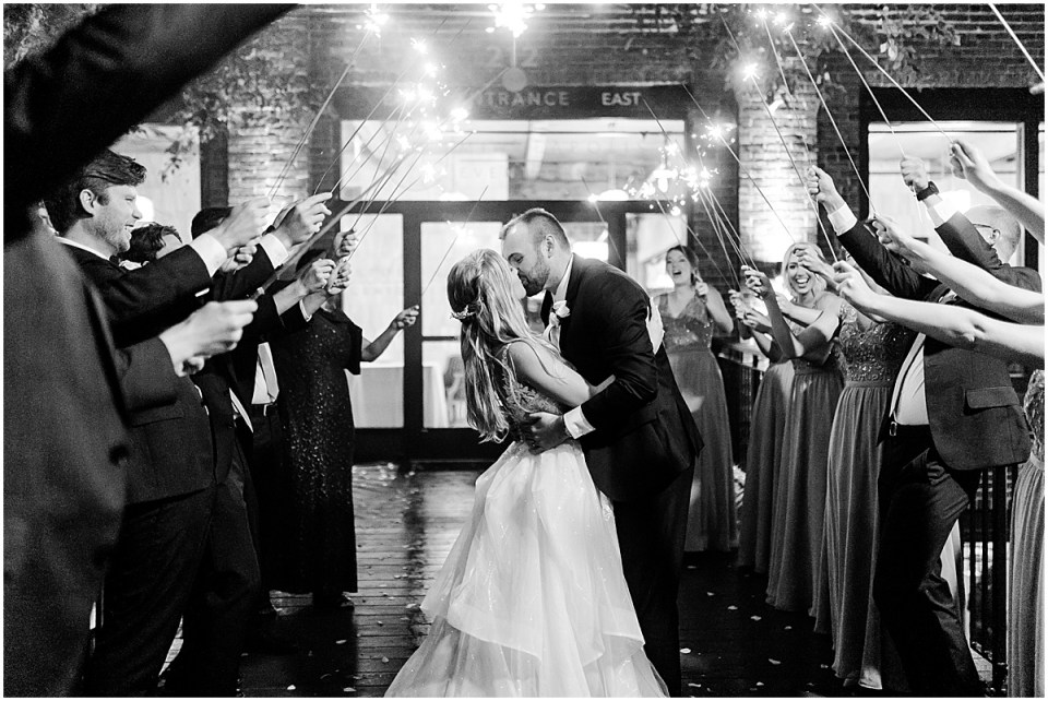 sparkler wedding photos outside the grand 1858