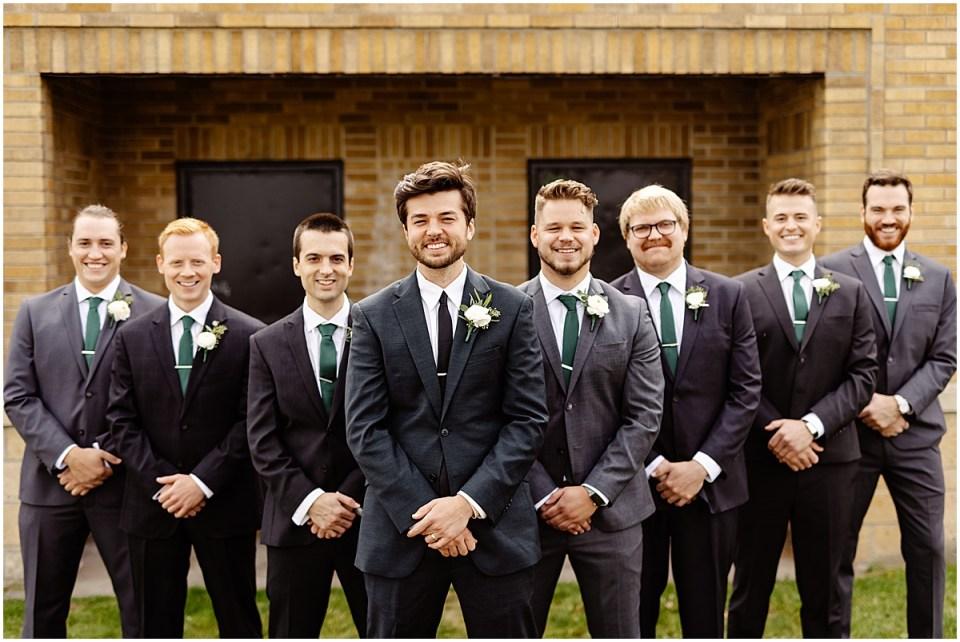 groomsmen backyard wedding