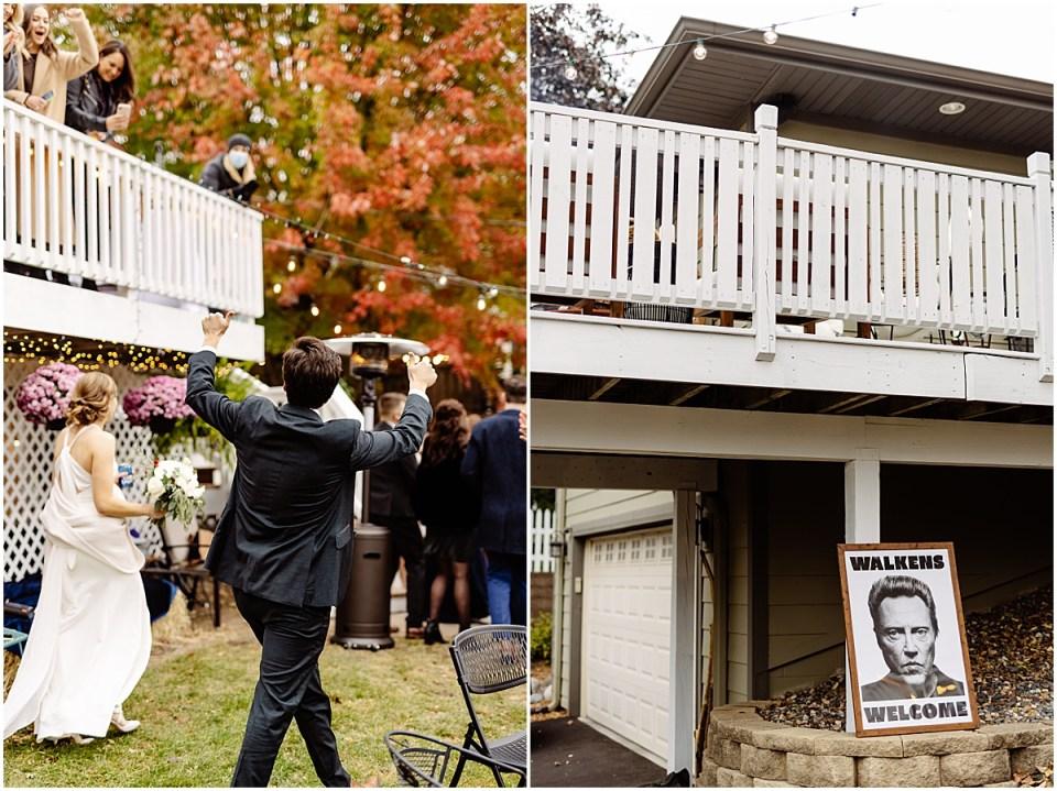 fall backyard reception