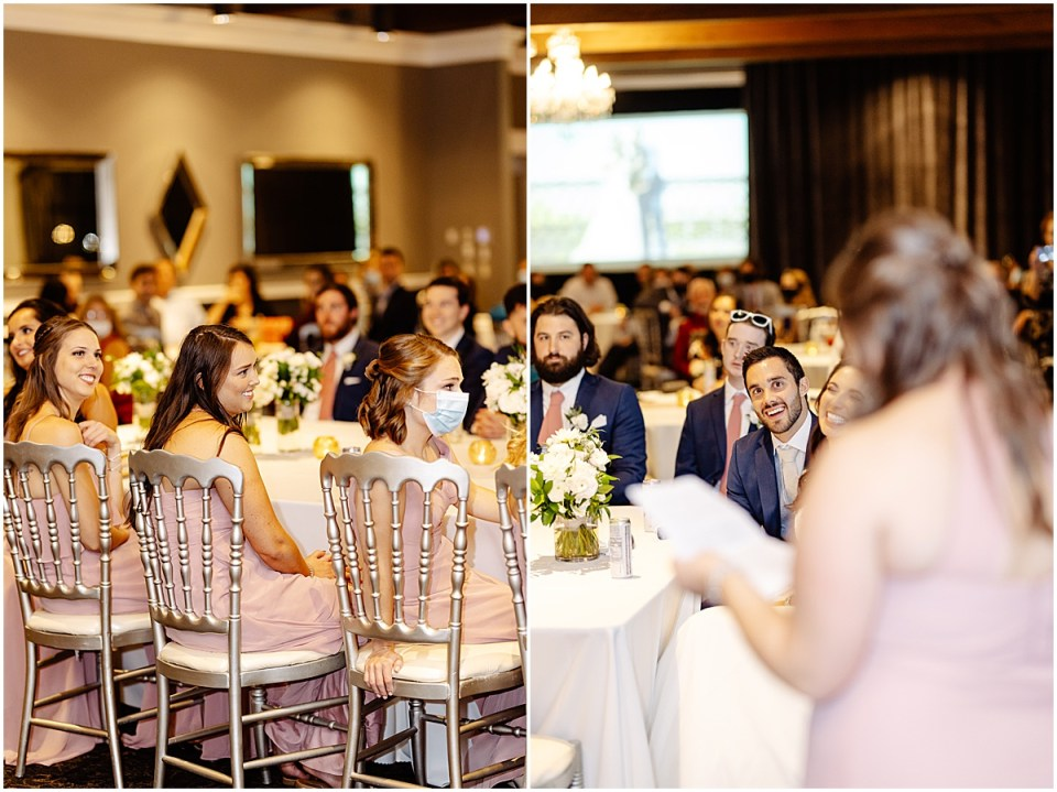 toasts insideLeopold's Mississippi Gardens Wedding