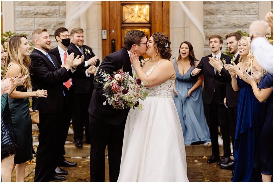 wedding celebration outside St. Paul College Club Minnesota