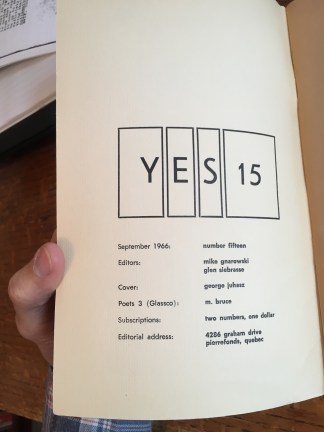 Peter Gibbon's MA thesis in the history of YES is sadly not widely available, but can be found in a rare issue of his magazine, Conduit, published as a double issue (Conduit 1/YES 20, Fall/Spring 2012).