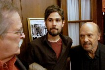 "Photos by Max Middle. Bill, Harvey Glatt, and me at Laurier House in 2010 (?) celebrating the launch of Roy MacSkimming's ""Laurier in Love."""