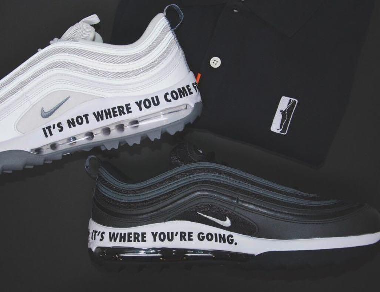 custom Nike shoes and Papa Champ polo