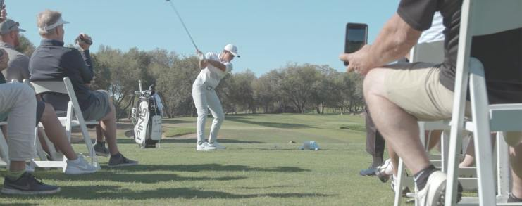 video still from clinic at 2019 Champ Foundation Classic fundraising tournament