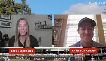 Cameron Champ on Facebook live with PGA Tour