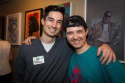 VIZ Party at Siggraph 2014 with Adam Rothstein.