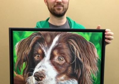 2013-04 - Pet Portrait Painting - Cedi - To show Scale