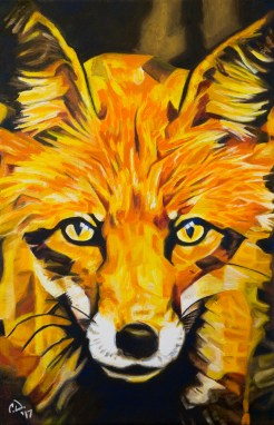2017-02 – Original Painting by Cameron Dixon – The Eyes of a Thief (Fox)