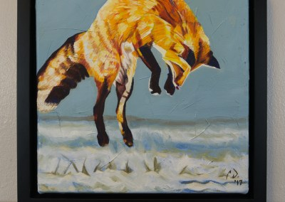 2017-01 - Painting by Cameron Dixon - Fox Pounce - 2 - complete-front-web
