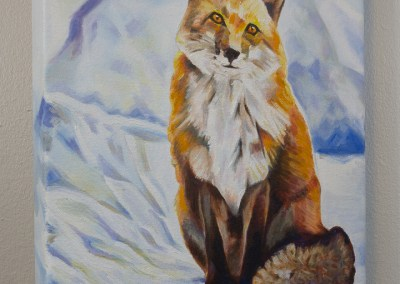 Fox Sitting in Snow by Cameron Dixon -Complete-right