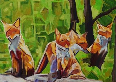 DSC00047 - 2017-03 - Painting - Fox Cub Four 1080px-front-cameron-dixon