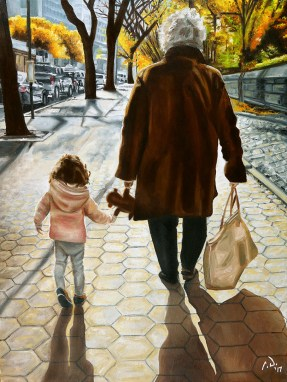 2017-01 – Original Painting by Cameron Dixon – In a City of Millions There is a Lot of Beauty – New York