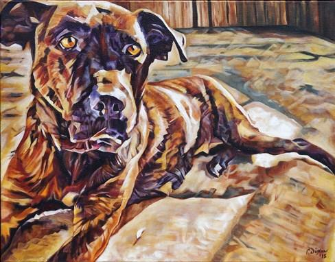 2018-03 – Commissioned Painting by Cameron Dixon – Pet Portrait – Ursa