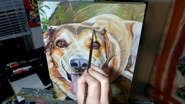 Pet Portrait Painting Time Lapse  Loki - 11in x 14in. Oil over Acrylic on canvas with frame and time-lapse progression video  I am open for commissions for the month of June. Purchase custom commissions direct through my Etsy shop: https://goo.gl/bQyD43  Pricing: www.camerondixon.com/pricing