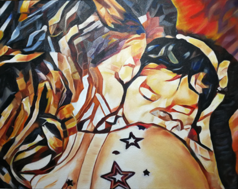 2018-01 – Commissioned Painting by Cameron Dixon – Mother and Child