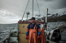 Grundens recreational and commercial fishing clothing line in Norway