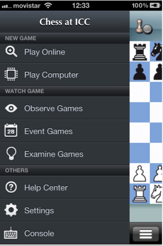 Internet Chess Club iPhone app