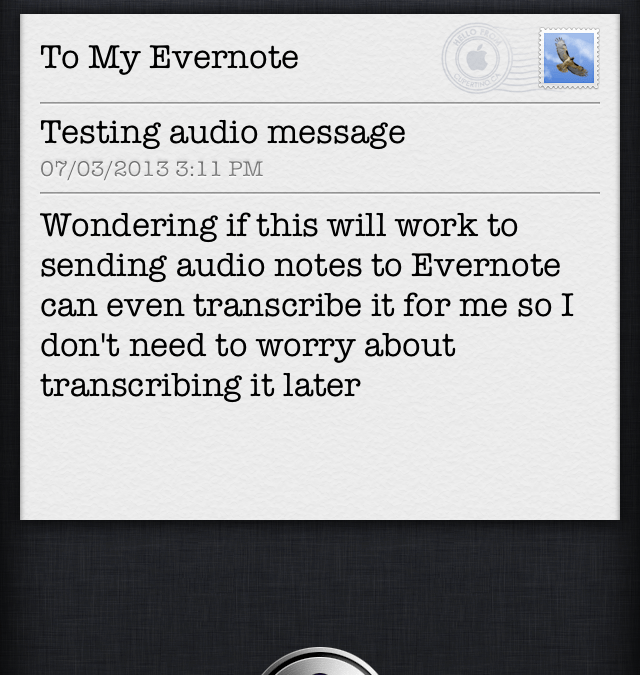 Getting Audio Notes Into Evernote