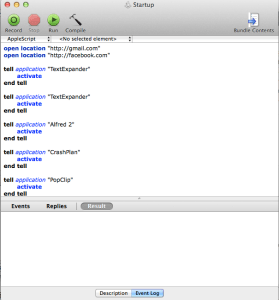 using applescript to auto launch mac apps