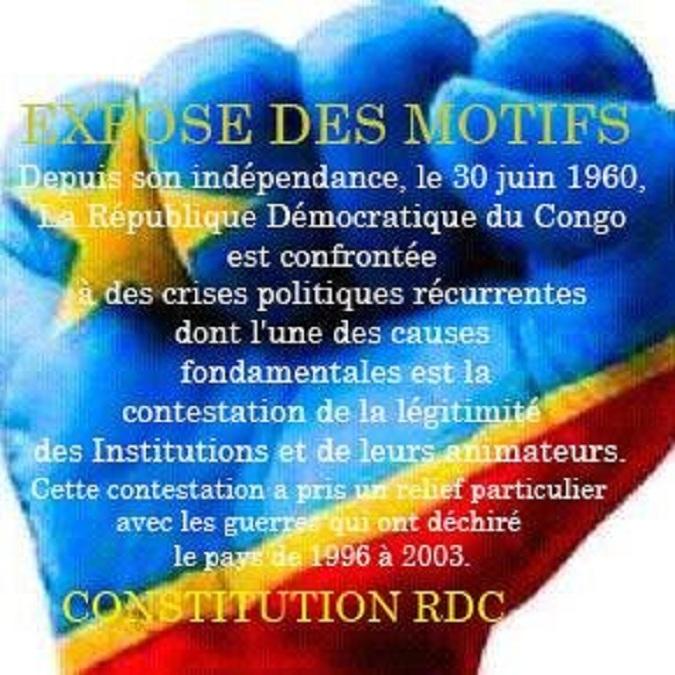 R.D. Congo / Appel à l'union sacrée de la nation: Debout Congolais, nous sommes unis par le sort, l'heure est a l'unité pour sauver la patrie