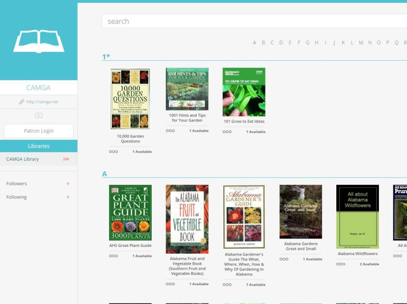 CAMGA Library Catalog