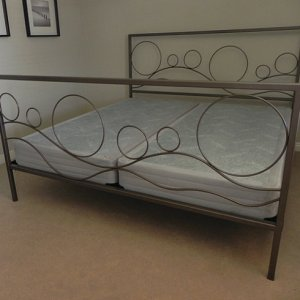 Iron art bed frame