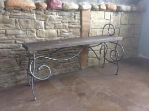 Scroll bench functional iron art of Cam Harris
