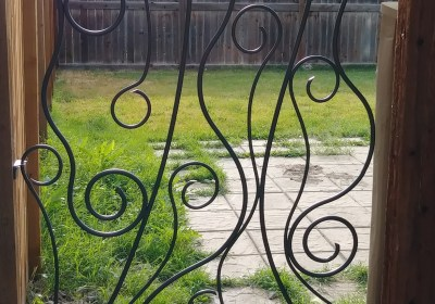 Whimsical Iron Art Garden Gate