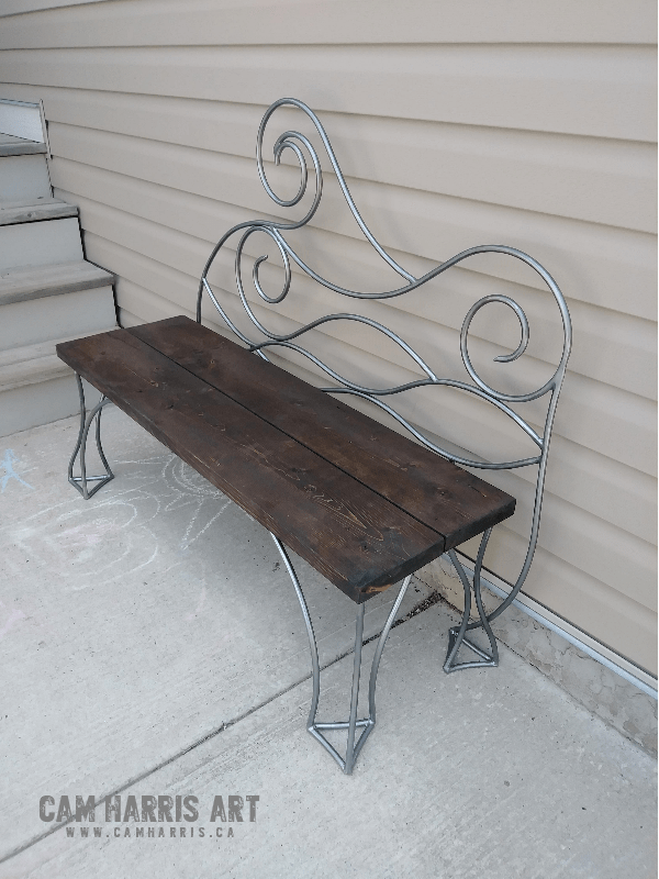 Wave Iron Bench 3