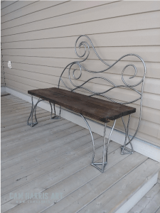 wave iron bench 1