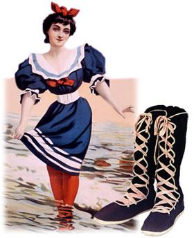Vestido de Banho, por volta de 1890.